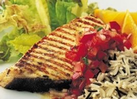 Grilled Swordfish Steaks with Tomato and Pepper Salsa