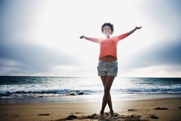 happy fun woman