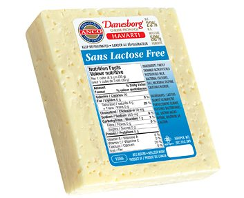 Danesborg Cheese Havarti Lactose Free