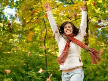 health fall autumn woman
