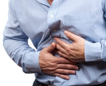 man upset stomach