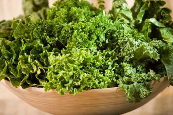How to massage kale leaves for a salad