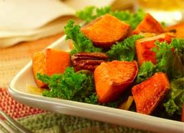 Warm Sweet Potato and Kale Salad