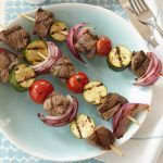 Marinated Lamb Kebabs with Grilled Vegetables