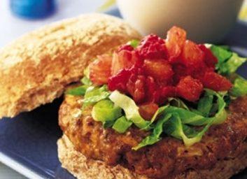 grilled lamb burgers fruity relish