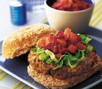 Lamb Burgers with Fruit Relish