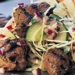 Lamb Kebabs with Greek Salad
