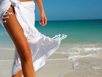 woman legs beach