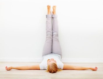 legs up the wall yoga pose