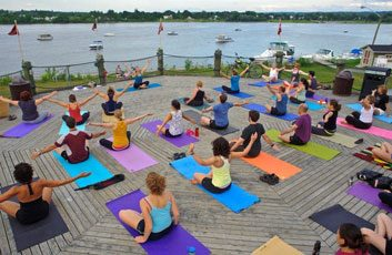 yoga at the lighthouse on the green