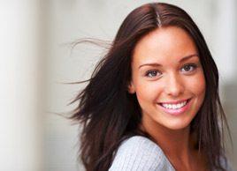 woman smiling hair