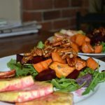 Meatless Monday: Arugula, Sweet Potato and Beet Salad with Tofu