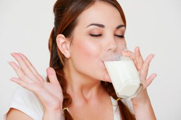 milk woman drinking