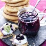 Mini-Naans with Wild Blueberry Pear Marmalade