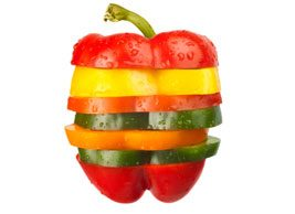 multi-coloured pepper