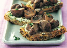 Mushroom and Thyme Toasts