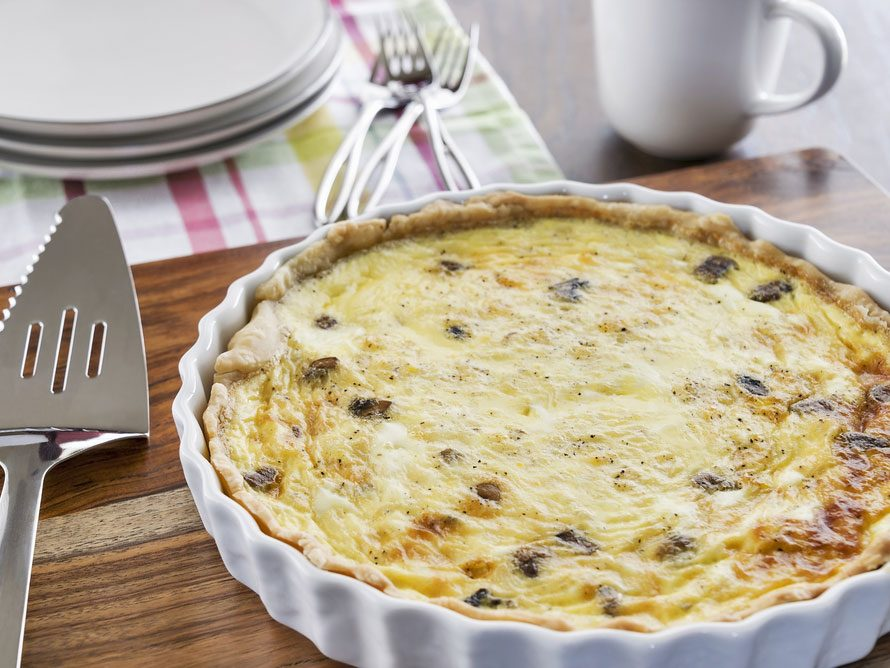 Healthy recipes 8 ingredients or less mushroom quiche just 3 ingredients forumfinder Gallery