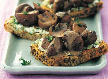 mushroom thyme toasts