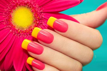 Beauty tip: How to make neon nail polish really pop