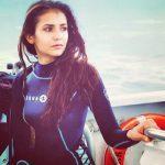Celeb fitness: Nina Dobrev goes diving