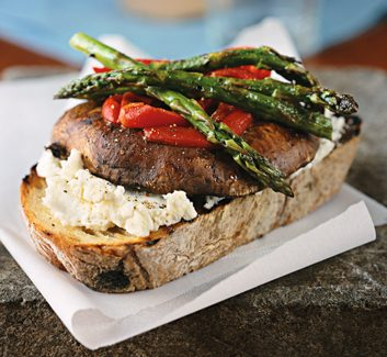 Open-Face Grilled Vegetable Sandwiches