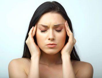 woman in pain headache