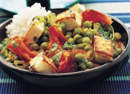 Pea Curry with Indian Paneer