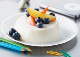 Peach-Blueberry Pannacotta