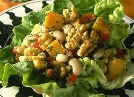 Black-Eyed Pea and Walnut Lettuce Wraps