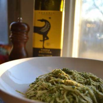 Meatless Monday: Angel Hair Pasta with Kale-Walnut Pesto