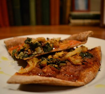 Meatless Monday: Roasted Cauliflower and Chard Pizza