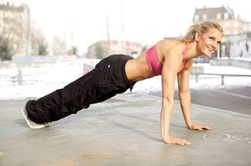 plank core exercise