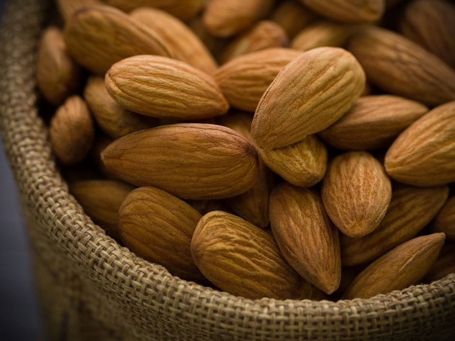 Plant protein almonds