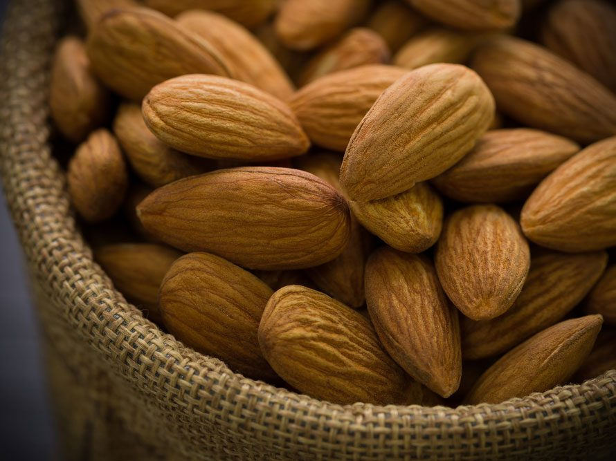 Plant protein almonds