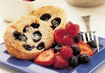 Blueberry Popovers