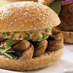 Portobello Mushroom, Goat Cheese and Walnut Sliders