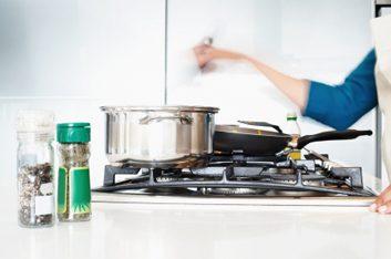 pot cooking on burner