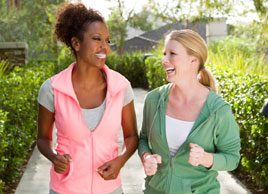 women fitness power walking