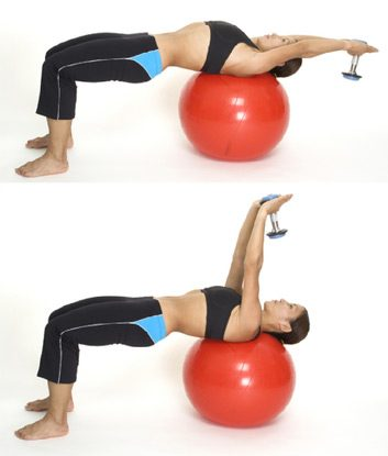 4. Dumbbell Pullovers