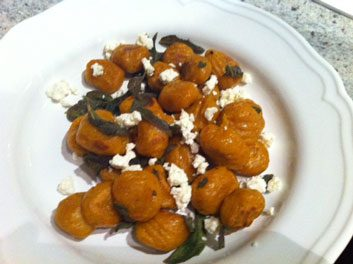 Meatless Monday: Pumpkin Gnocchi with Sage and Feta