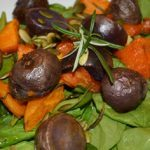 Meatless Monday: Purple Potato and Yam Spinach Salad