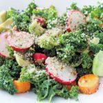 Radish, Kale & Hemp-seed Salad with Lemon-Honey Dressing
