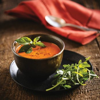 Meatless Monday: Roasted Red Pepper & Sweet Potato Soup from Thrive Energy Cookbook