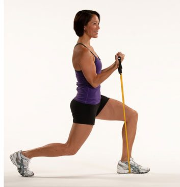 reverse lunges with biceps curl