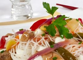 Rice Noodles with Pork and Shrimp