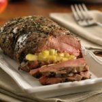 Roasted Leg of Lamb Stuffed with Apple and Rosemary