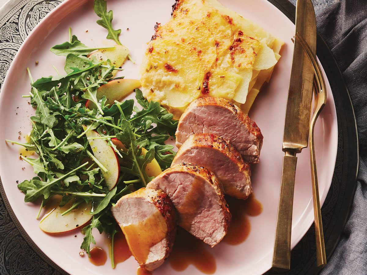 Roast Pork Tenderloin with Cider Sauce