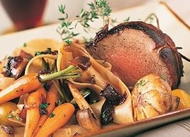 Roast Beef Tenderloin in Red Wine