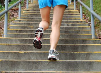 stairs running walking exercise
