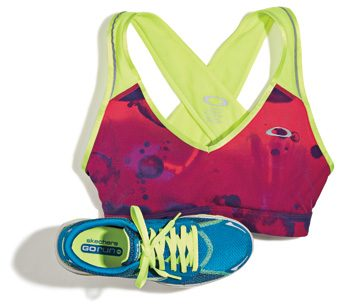 Spring gear: Sports bras and running shoes